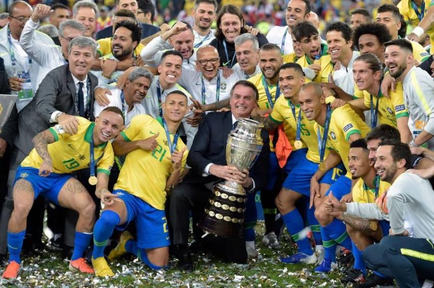 البرازيل بطلة كوبا أميركا في البرازيل. (AFP)