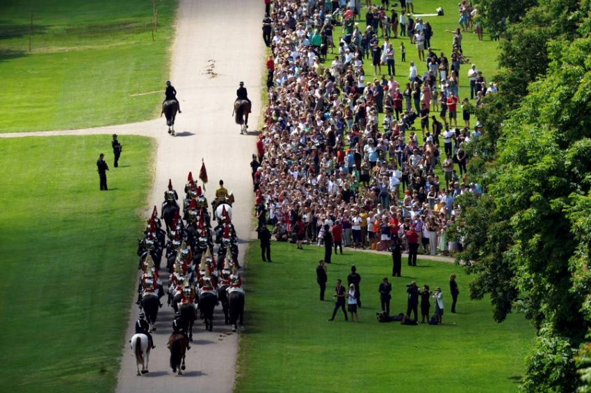 أقيمت المراسم بعد يوم من حفل استقبال أقامته الملكة لزعماء مجموعة السبع في كورنوول - رويترز.