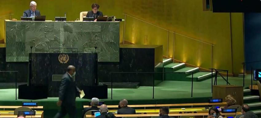 جلسة التصويت في الجمعية العامة.(الأمم المتحدة)