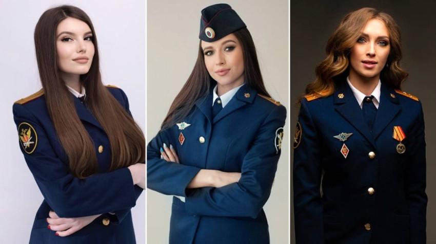 استعراض بالزي الرسمي في مسابقة ملكة جمال سجون روسيا.