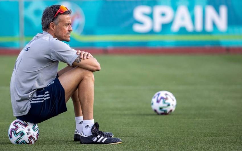 إنريكي مدرب إسبانيا. (أ ف ب)