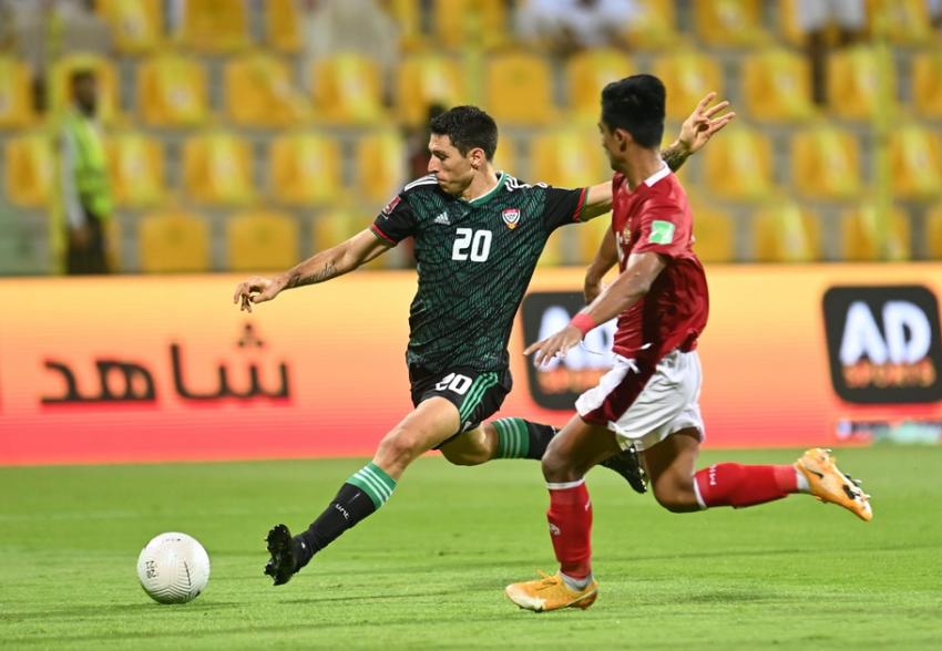 تيغالي خلال مباراة الإمارات وإندونيسيا. (الرؤية)