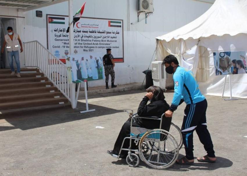 برنامج التطعيم يجسد اهتمام الإمارات بأوضاع اللاجئين الصحية وحرصها على تحسين ظروفهم الإنسانية.