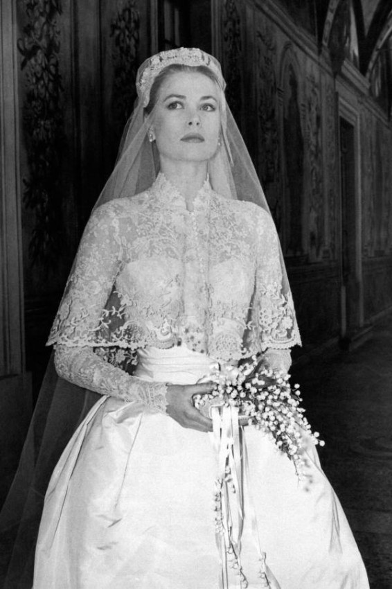 غريس كيلي في يوم زفافها