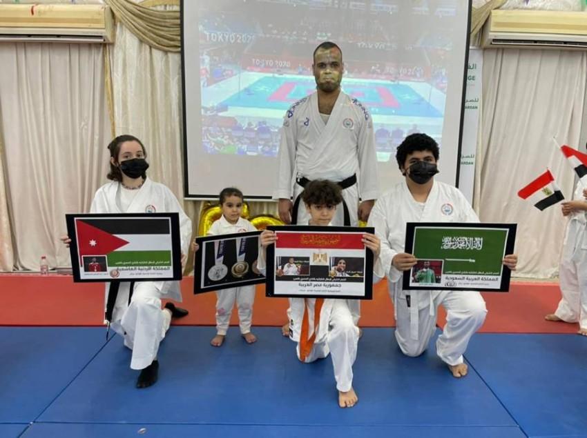 احتفالية ميداليات العرب. (من المصدر)