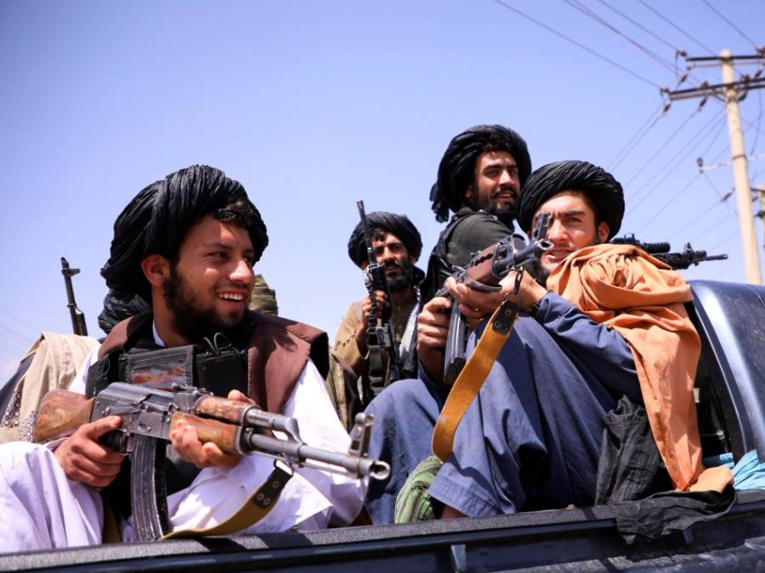 عناصر من مقاتلي طالبان في كابول. (رويترز)