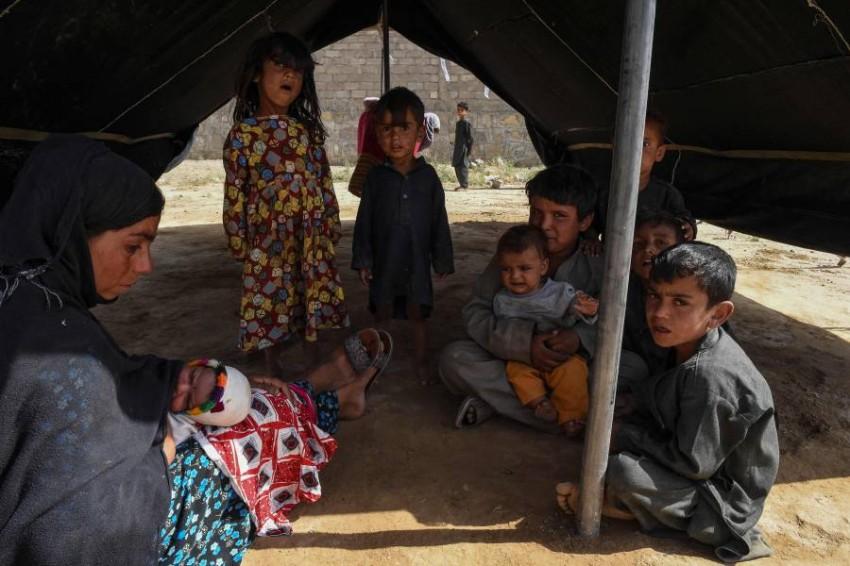 لاجئون أفغان. (أ ف ب)