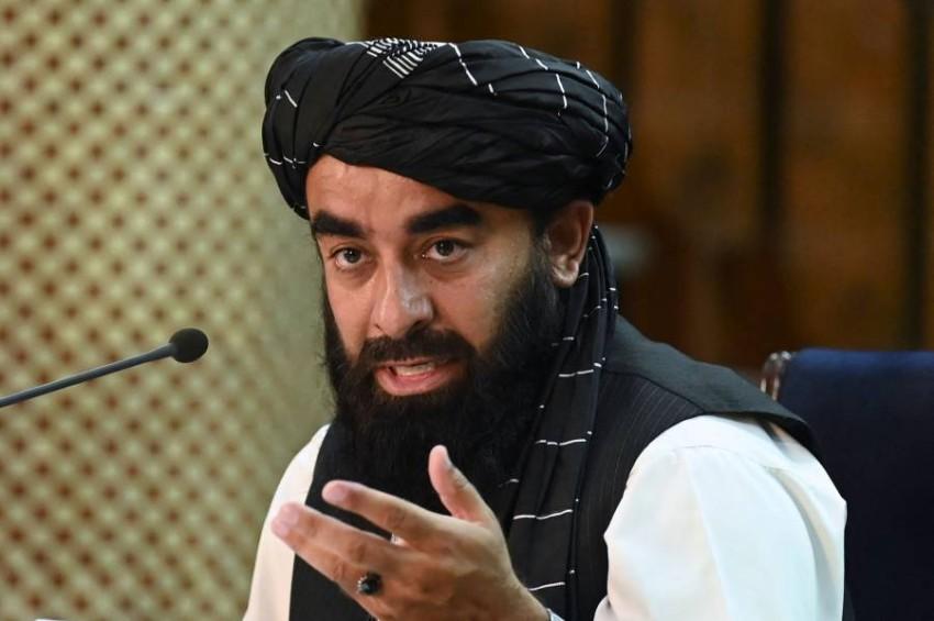 المتحدث الرئيسي باسم طالبان ذبيح الله مجاهد. (أ ف ب)