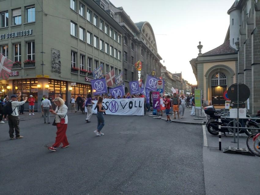 مظاهرات في برن لمناهضي تدابير احتواء كورونا. (الرؤية)