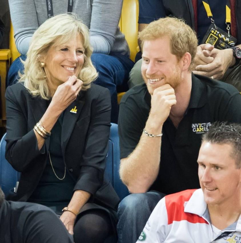 الأمير هاري وجيل بايدن