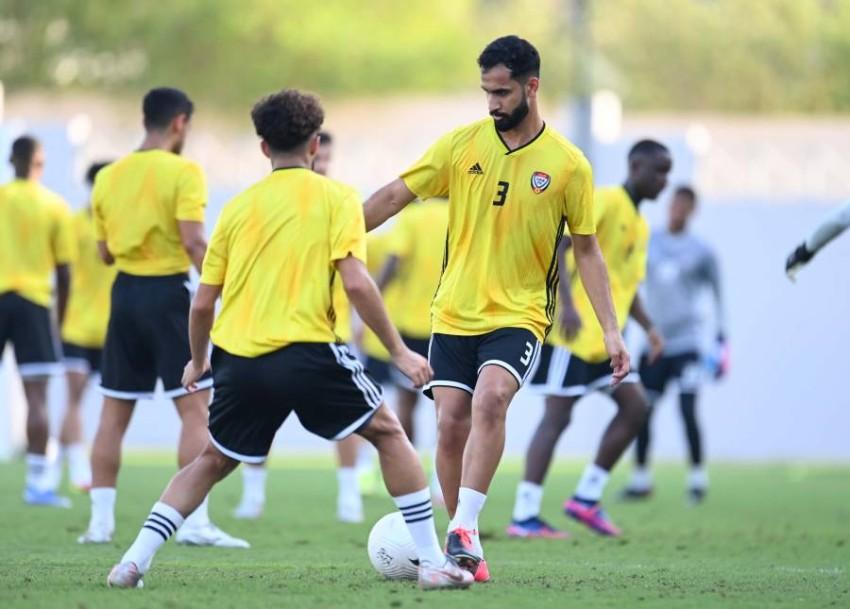 تدريبات منتخبنا الأولمبي في دبي. (من المصدر)