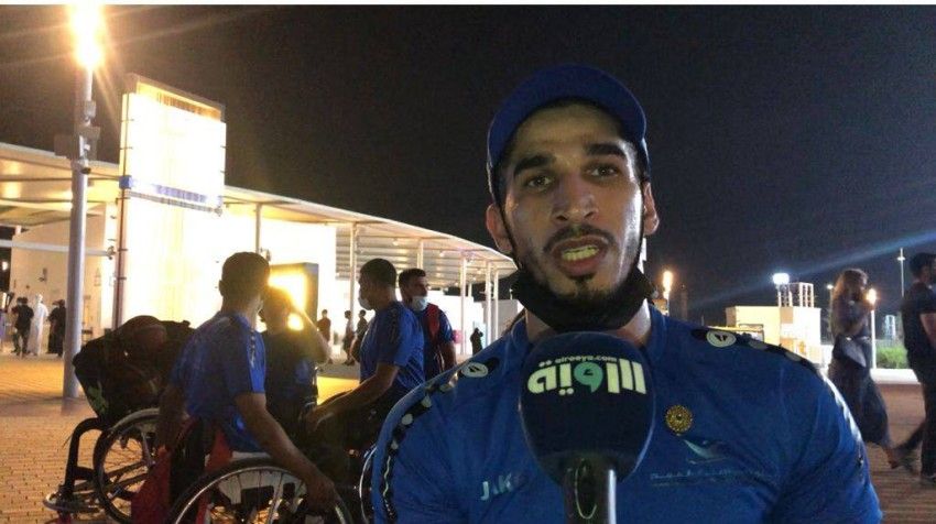 لاعب نادي دبي لأصحاب الهمم لسلة الكراسي المتحركة جمال البدواوي. (الرؤية)