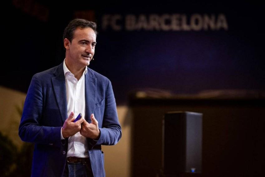 «فيران ريفرتر» الرئيس التنفيذي لنادي برشلونة. (تويتر برشلونة)