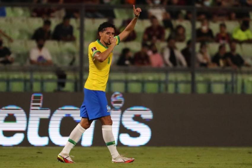 مدافع المنتخب البرازيلي ماركينيوس. (إ ب أ)