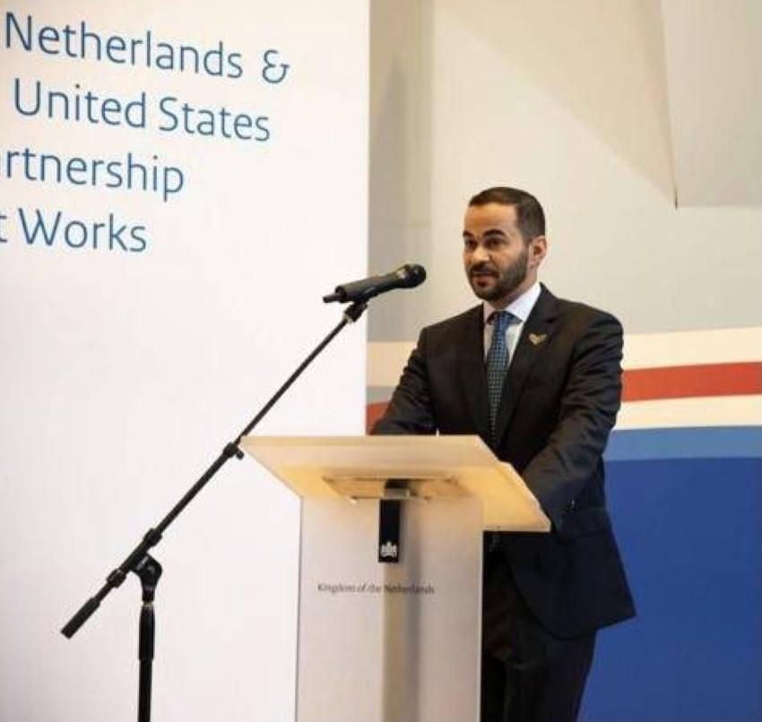 الملحق الشرطي لوزارة الداخلية الإماراتية في الولايات المتحدة المقدم محمد الطنيجي، رئيس جمعية الملحقين الشرطيين في أمريكا. (الرؤية)
