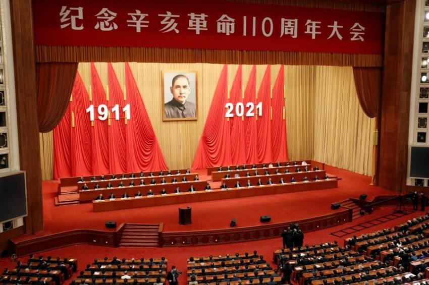 احتفالية الذكرى السنوية للثورة التي أطاحت بآخر سلالة إمبراطورية في 1911. (رويترز)