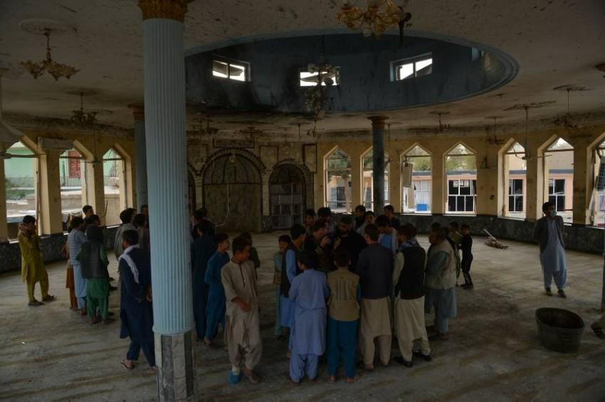 أدانت دولة الإمارات بشدة التفجير الذي استهدف مسجداً في ولاية قندوز الأفغانية - أ ف ب.