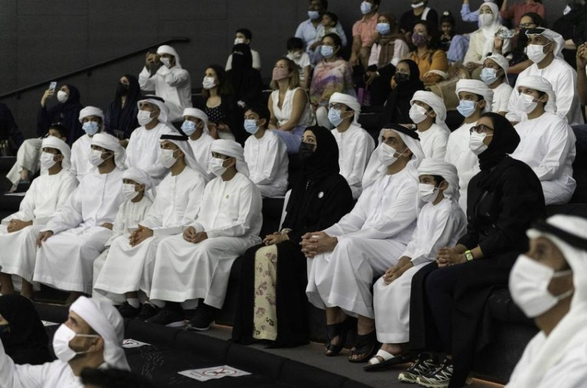 سيف وخالد بن زايد يزوران إكسبو دبي. (وام)