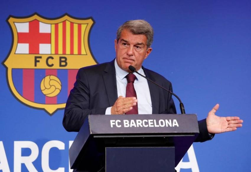 رئيس برشلونة خوان لابورتا. (رويترز)
