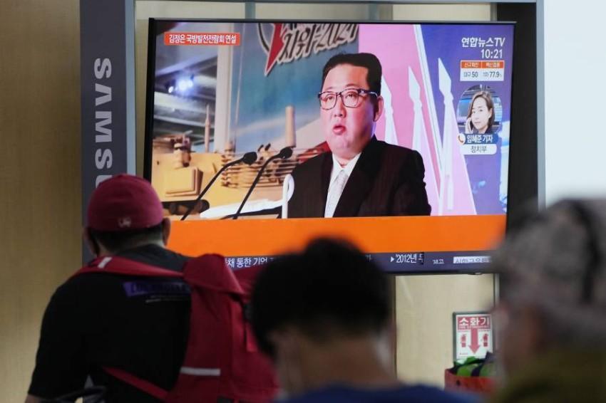 الرئيس الكوري الشمالي كيم جونغ-أون - أب.