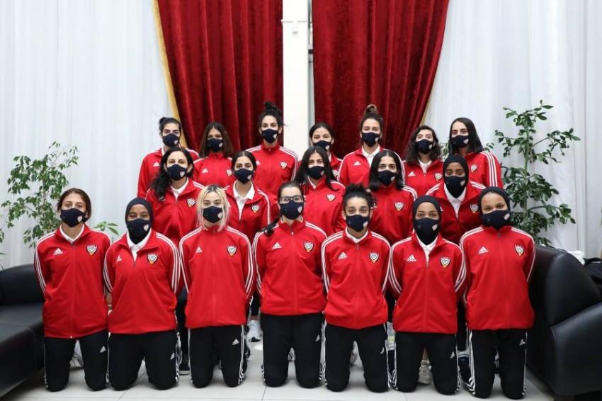 منتخبنا الوطني للسيدات لكرة القدم. (من المصدر)